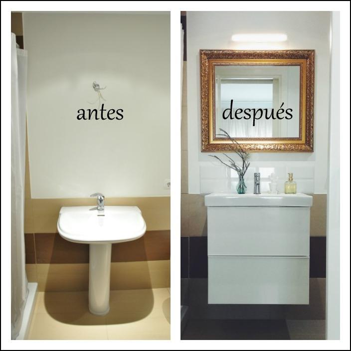 antes y despues del baño