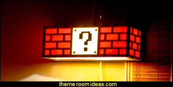 Super Mario lamp  Gamer bedroom - Video game room decor - gamer bedroom furniture - gamer wall decal stickers - Super Mario Brothers Wall Stickers - gamer bedding - Super Mario Brothers bedding -