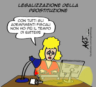 prostituzione, legalizzazione, tasse, satira vignetta