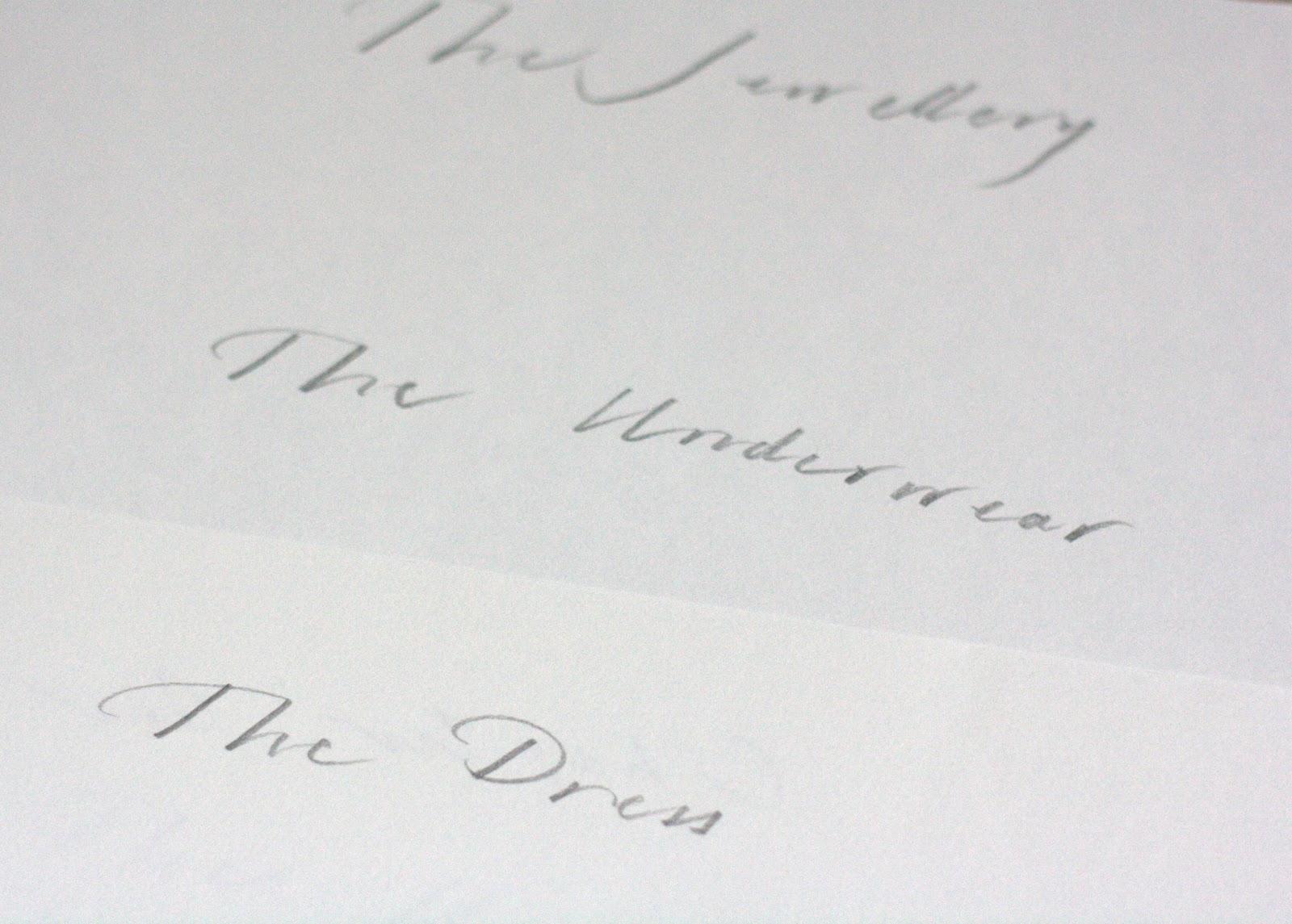 Lucy Each Peach Pear Plum And Some Elegant Handwriting