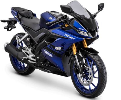 Racing Blue - Warna Baru All New R15 dengan USD warna Gold