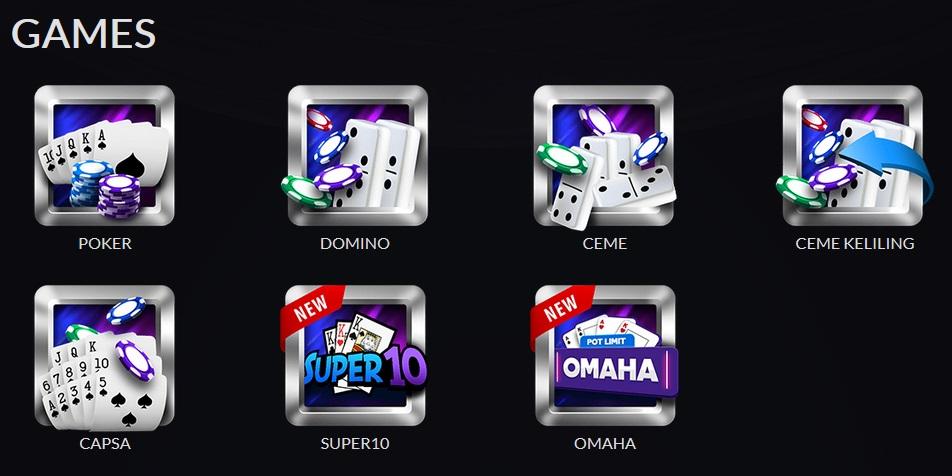 Daftar Games Di Situs Poker Terbaru