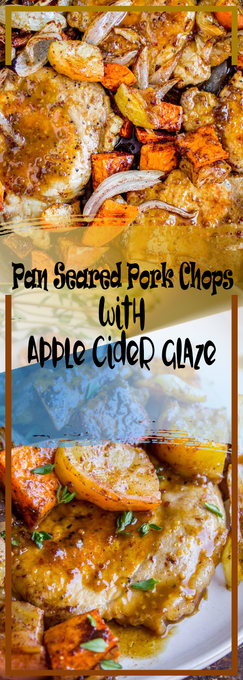 Pan Seared Pork Chops with Apple Cider Glaze Recipe