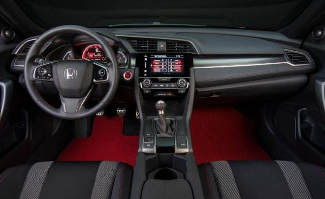 2017 Honda Civic Si Coupe Prototype Interior