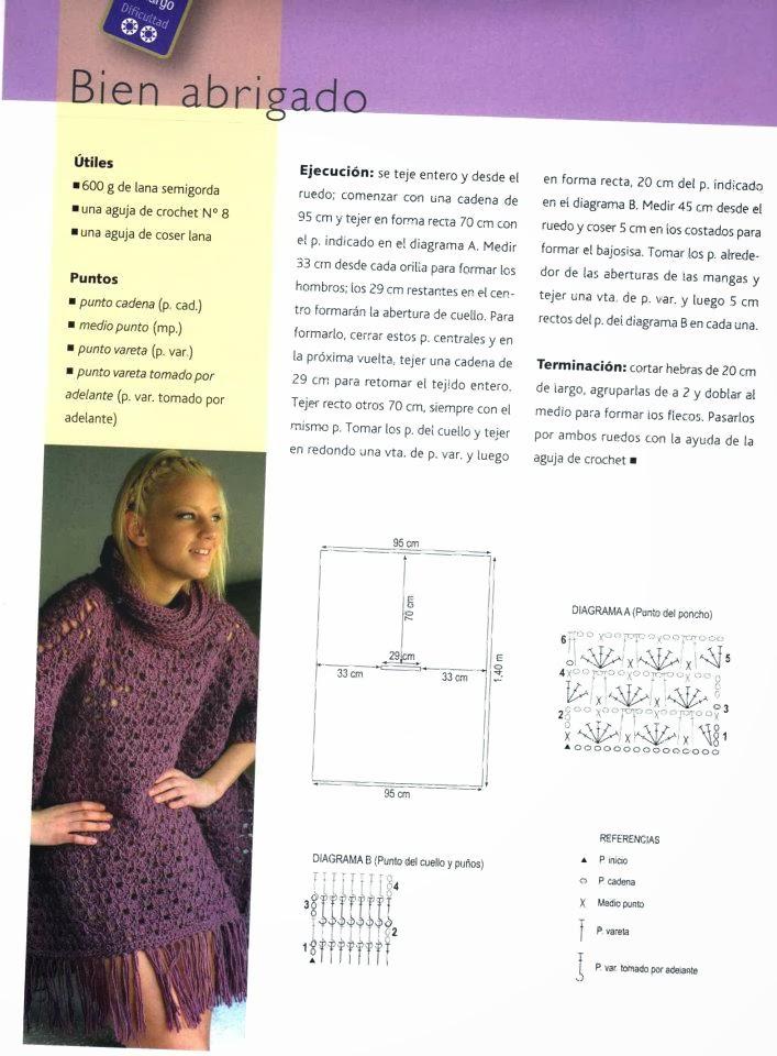 Vistoso Los Patrones De Crochet Libre Para Ponchos Adorno - Ideas de ...