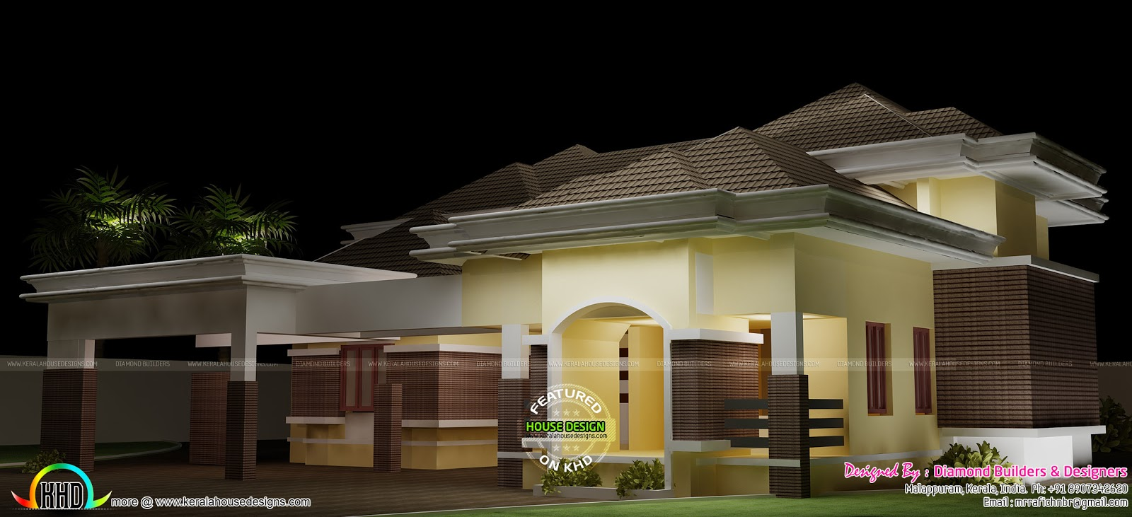 Modern home plan by diamond builders kerala home design for Home design diamonds