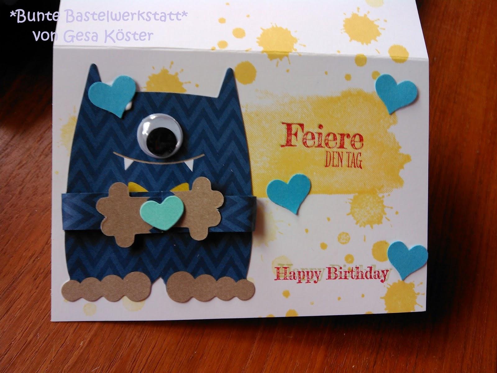 Geburtstagskarten Basteln Fur Jungs.Bunte Bastelwerkstatt Jungen Geburtstagskarte