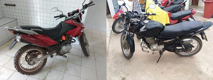 Duas motos roubadas recuperadas em Chapadinha por Policiais Militares
