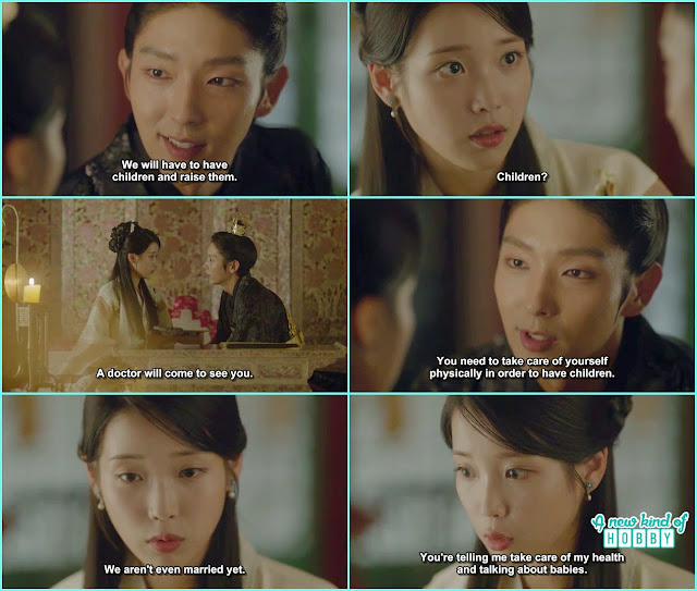 wang so talk about his future children to hae soo and doctor will come to see her - Scarlet Heart Ryeo - Episode 17 (Eng Sub)