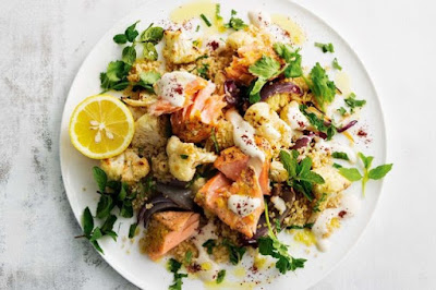 Lebanese Roast Salmon And Cauliflower Salad Recipe