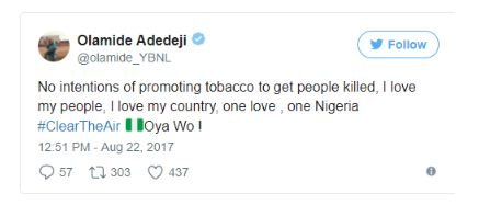 "Olamide Responds To NBC Banning His Song ""WO"" [See Tweet]"