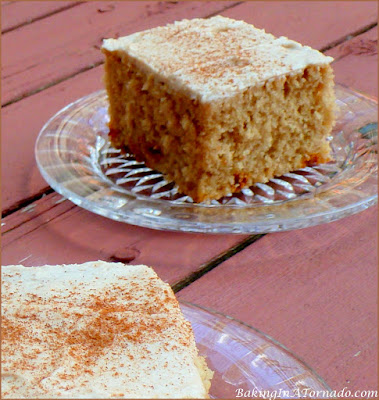 Coffee and Cinnamon Cake Squares have bold coffee flavor with a hint of cinnamon. | Recipe developed by www.BakingInATornado.com | #recipe #cake #coffee