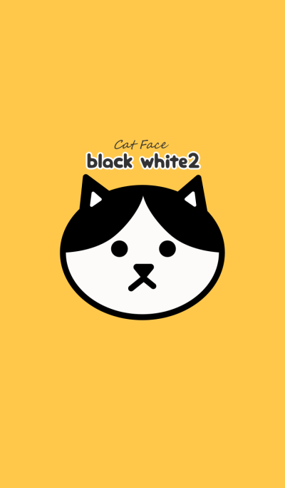 Cat Face -black white2-