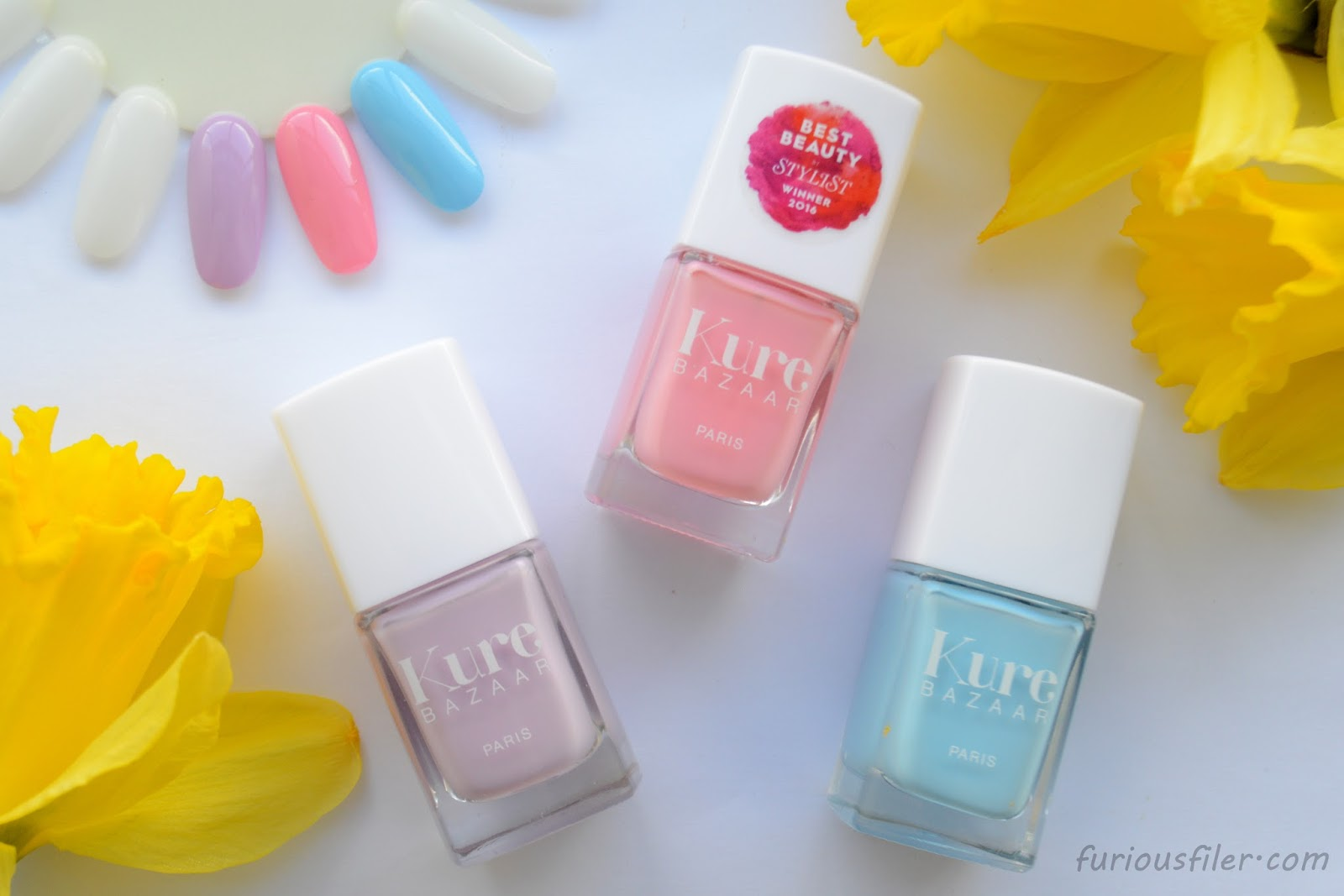 kure bazaar nail polish review pastels furious filer
