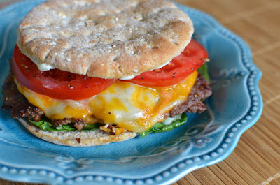 3 Napkin Skillet Burger, shared by Butter Yum