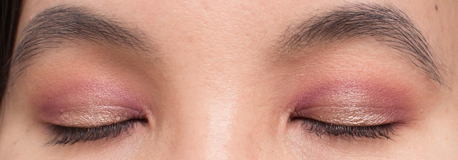 Warm Berries Makeup Look Closed Eye