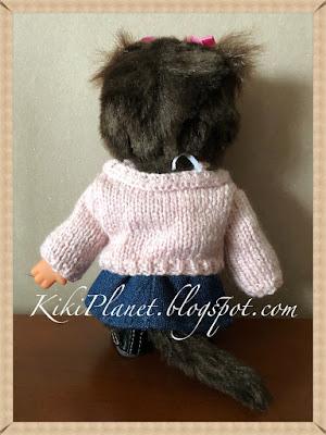 kiki monchhichi pull tricot knitting handmade fait main vêtement