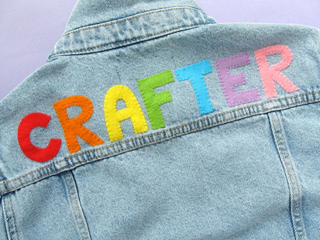 Customising a denim jacket with lettering