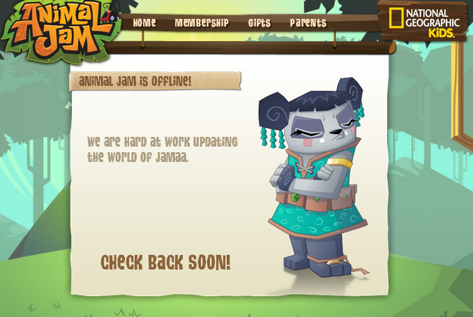 Animal Jam Spirit Blog: Animal Jam Is Offline