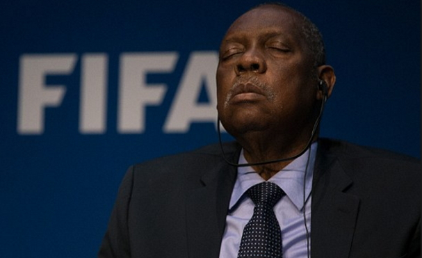 fifa president sleeping conference