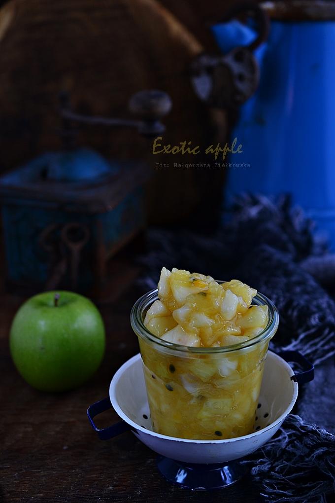 Egzotyczne jabłka w mini tarteletkach
