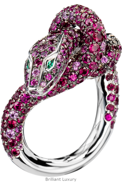 Brilliant Luxury♦Boucheron Paris Kaa Snake ring
