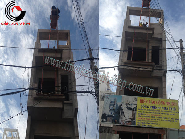 Thiết kế thi công xây nhà ống 2 tầng chị Trúc tại quận 7 Thi-cong-nha-pho-7