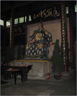รูปปั้นท่านงักฮุยในศาลเจ้างักฮุย (Yue Fei Tomb)