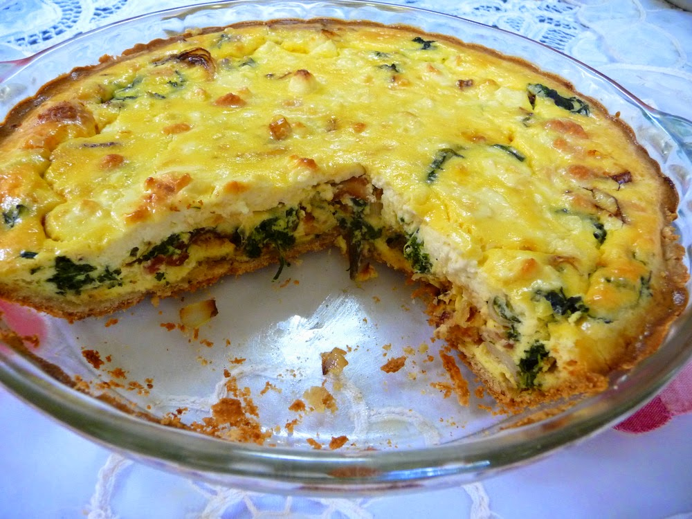 splendid low carbing by jennifer eloff spinach bacon quiche. Black Bedroom Furniture Sets. Home Design Ideas