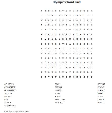 A Little Time and a Keyboard: Olympic Word Find--and How