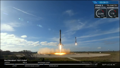 SpaceX Falcon Heavy boosters back at base