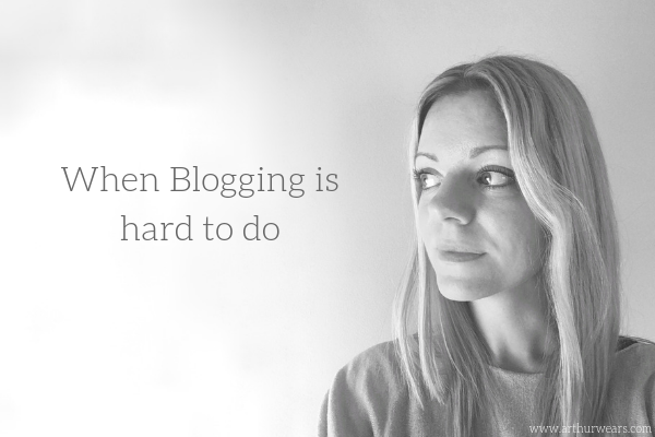 when blogging is hard to do - black and white  side portrait photo