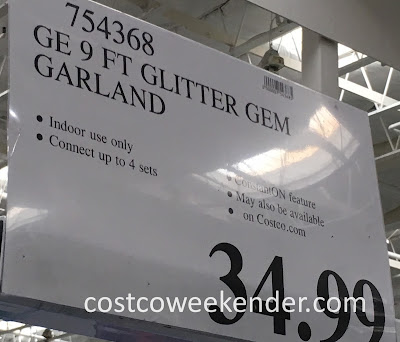 Deal for the GE 9 foot Glitter Gem Garland at Costco