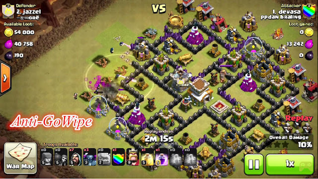 Base Layout WAR Terkuat Town Hall 8 Anti GOWIPE