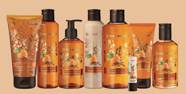 yves rocher kerstcollectie limited edition 2016 clementine & spices