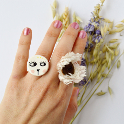 Cat Ceramic Ring