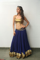Malvika Raaj in Golden Choli and Skirt at Jayadev Pre Release Function 2017 ~  Exclusive 068.JPG
