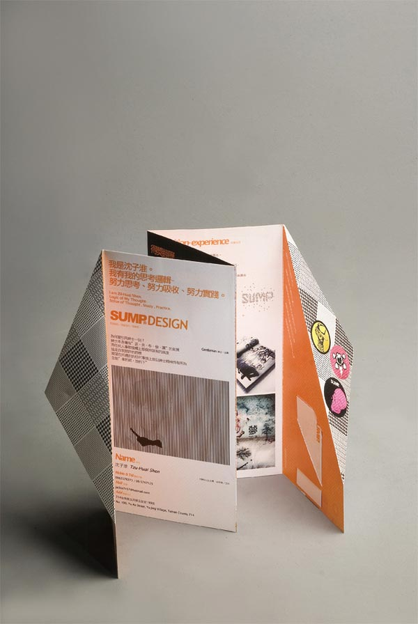 graphic design fold cv