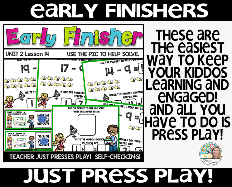 early finishers, math centers, math rotations