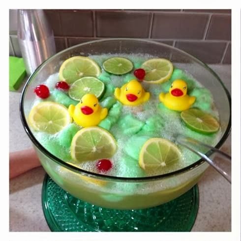 Lime Sherbet Punch Recipe {Rubber Ducky Baby Shower Idea ...