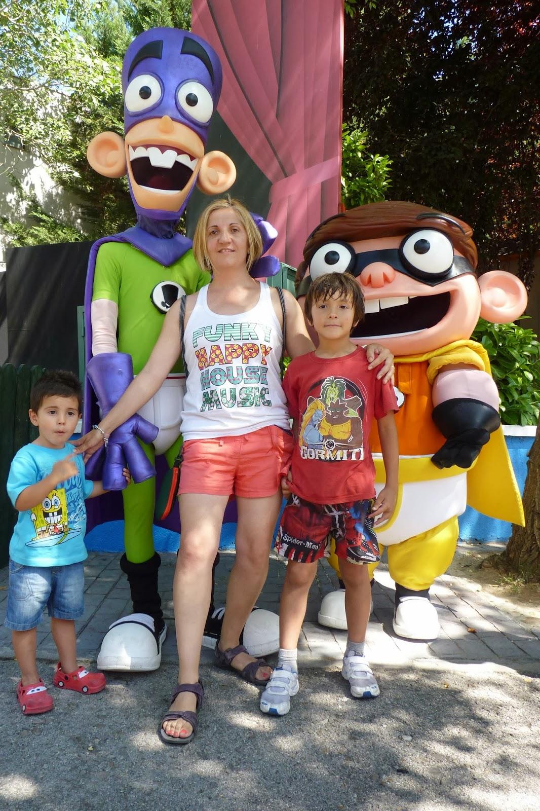 Fanboy y Chum Chum. Parque de Atracciones de Madrid.