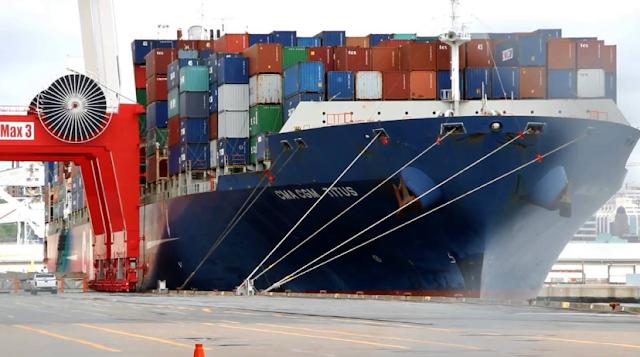 Apa Alasannya Sehingga Baru Sekarang Kapal Kontainer 'Raksasa' Bersandar Di Pelabuhan Tanjung Priok -  CMA CGM Titus