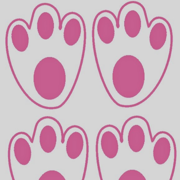 Karen 39 s ideas galore easy bunny feet with easter egg for Bunny feet template printable