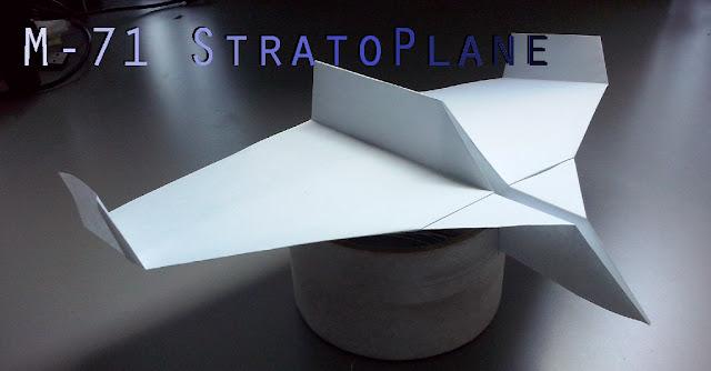 Avión de papel M-71 StratoPlane