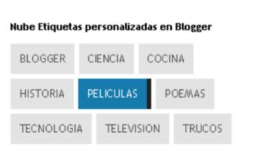 Etiquetas personalizadas en Blogger