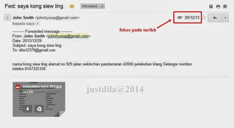 Lingcod Mail: Www.saidila.com: Kong Siew Ling.....Penipu Oh Penipu