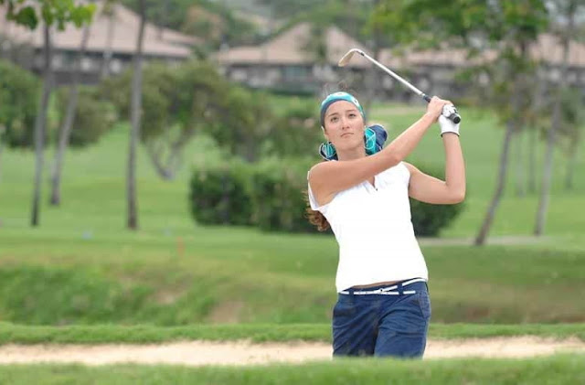 Golfer Kim Welch during Big Break Kaanapali