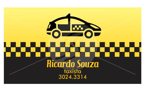 Cartão de Visita Taxistas Amarelo
