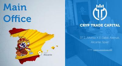 Kantor pusat Cryptrade di Alicante Spanyol