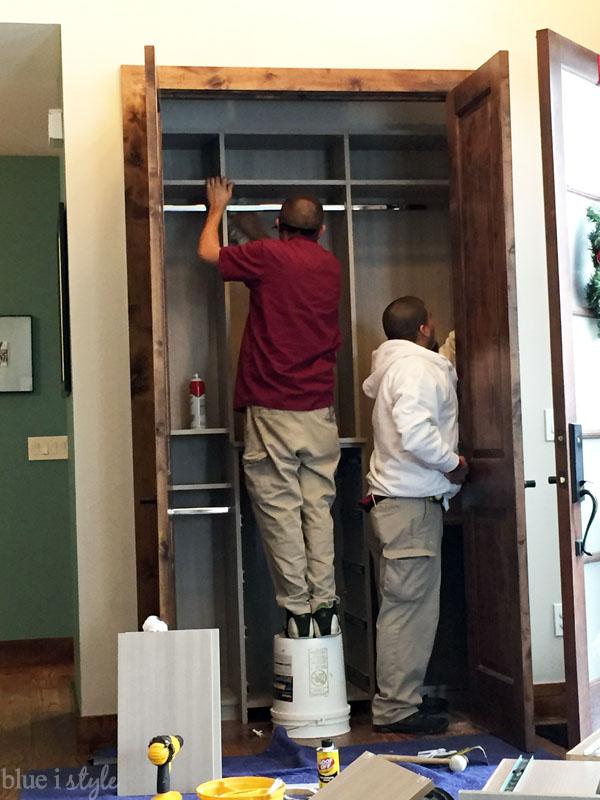 Coat closet installation by Closet Factory